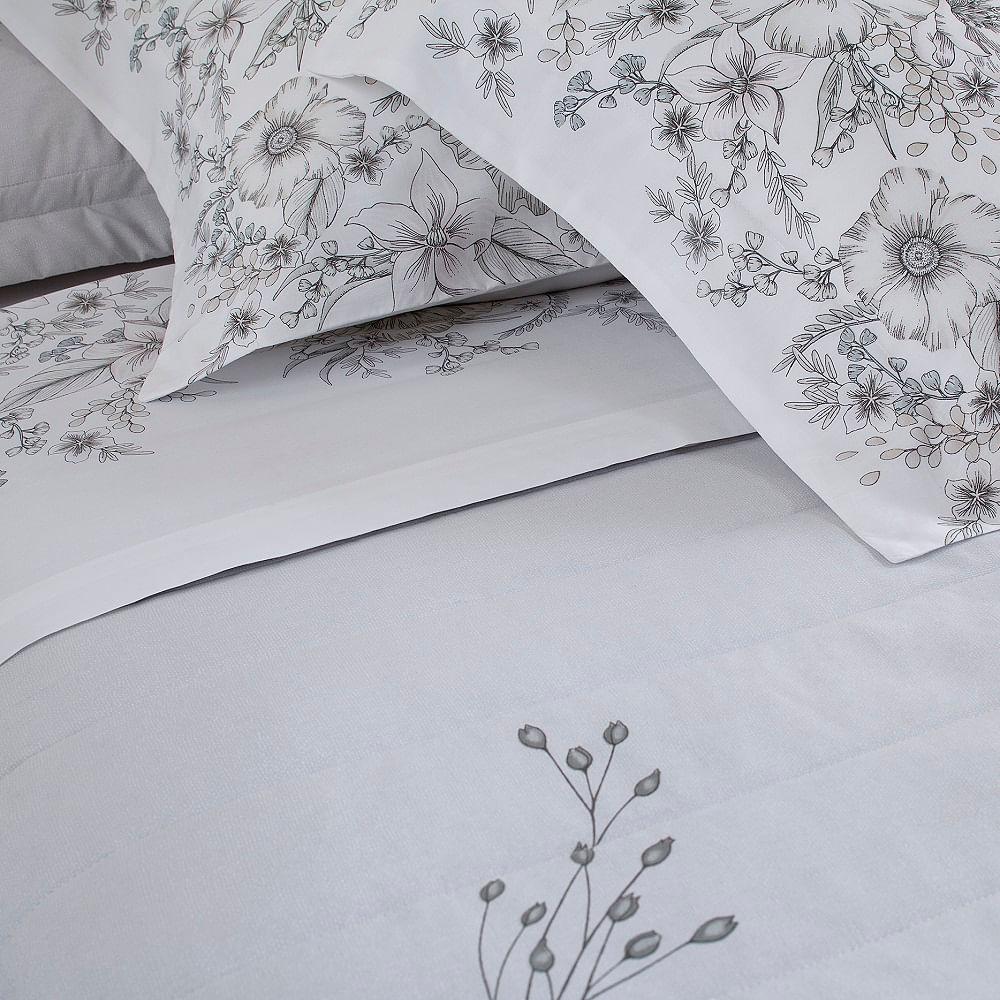 jogo de cama casal buddemeyer 180 fios 100% algodão percalle athena