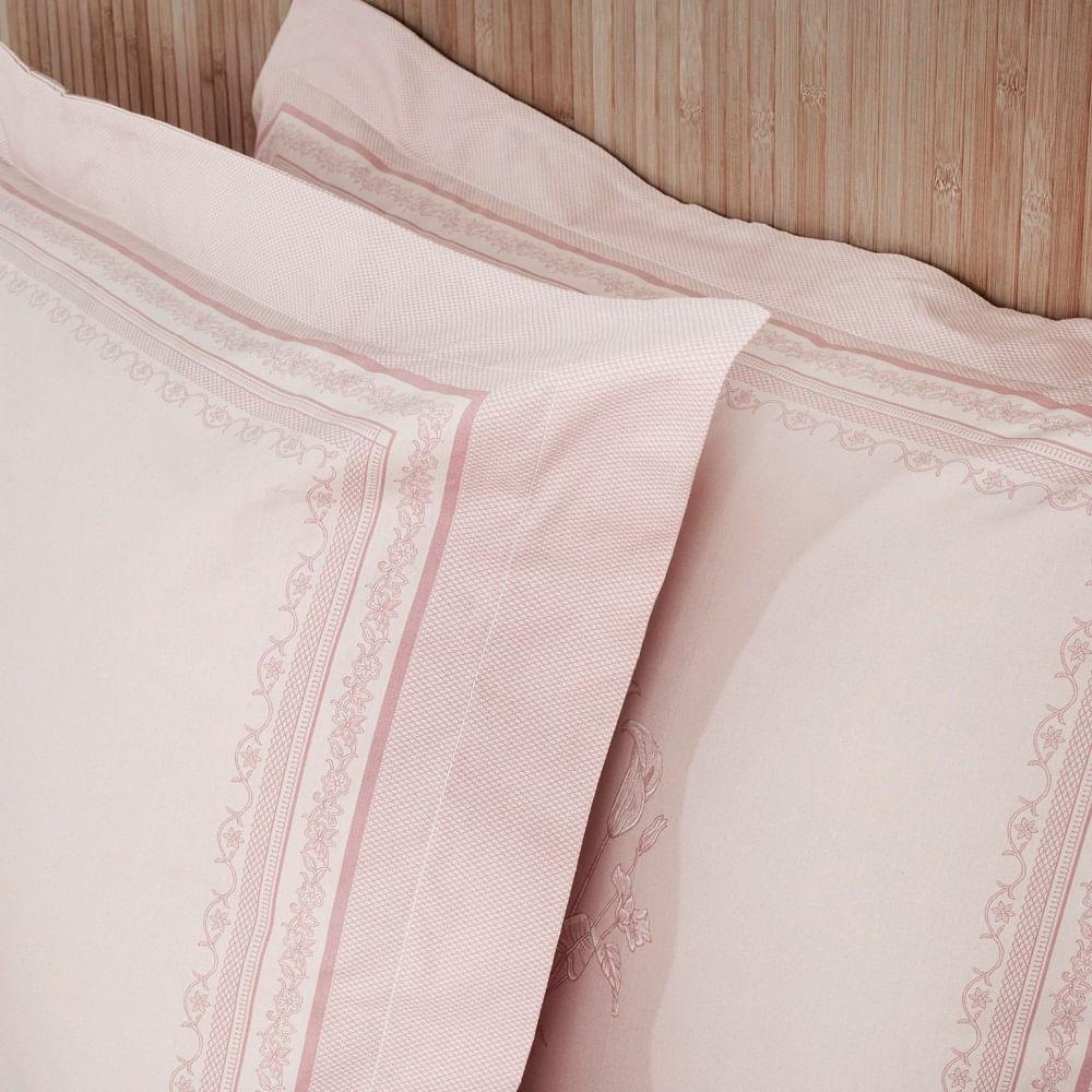 jogo de cama solteiro artex 180 fios 100% algodão dobra feita eva