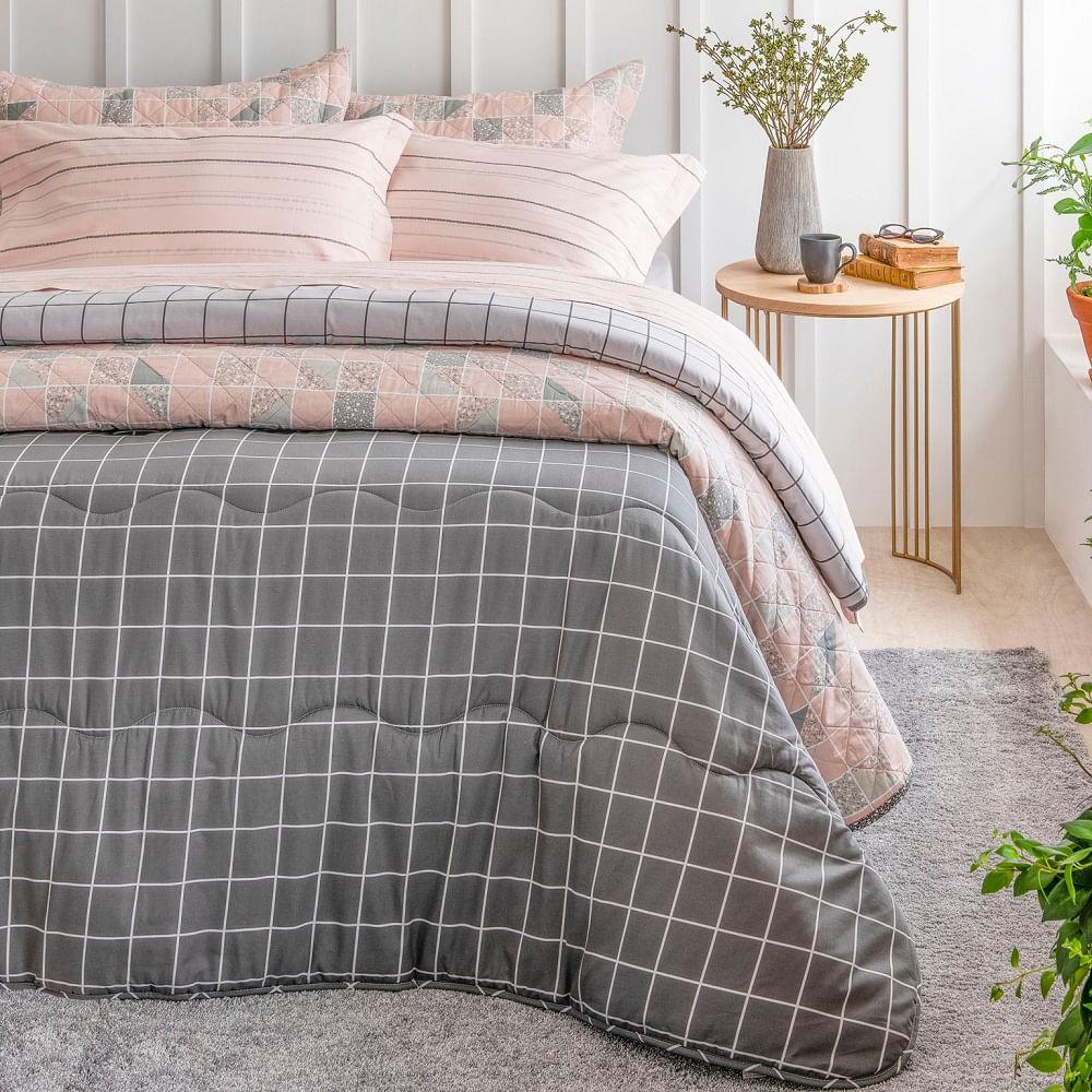 jogo de cama solteiro artex total mix foil 180 fios 100% algodão mineral