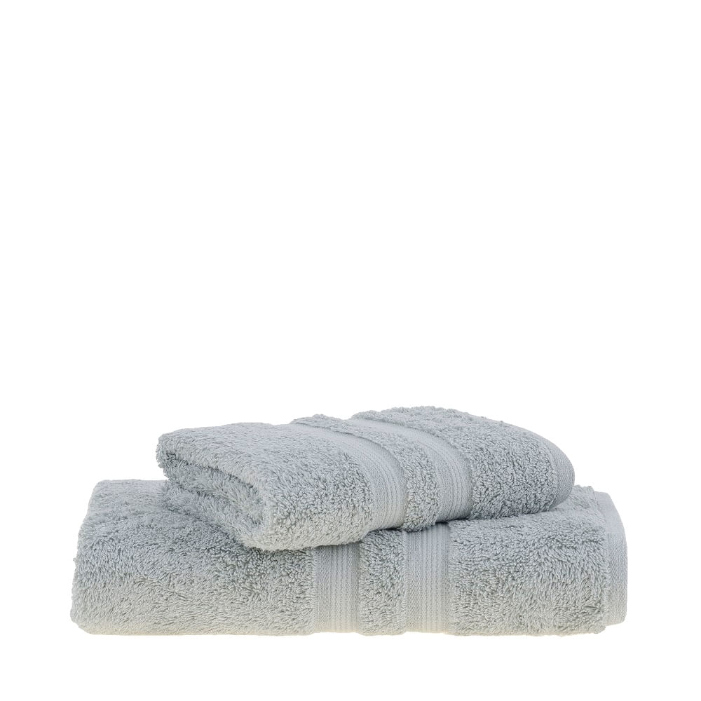 jogo de toalhas de banho buddemeyer 2 peças algodão egípcio verde 1810