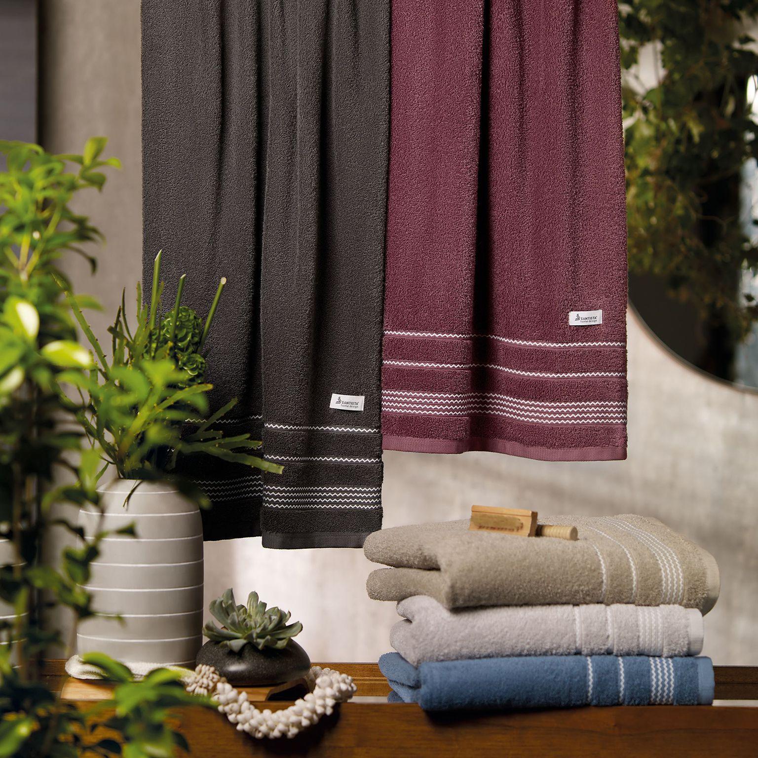 toalha de banho santista 1 peça home design chevron azul