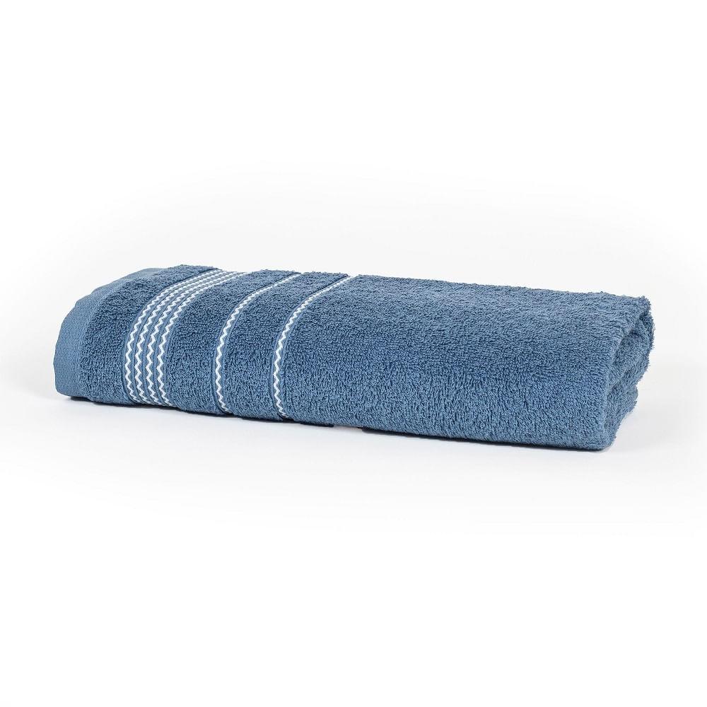 toalha de rosto santista 1 peça home design chevron azul