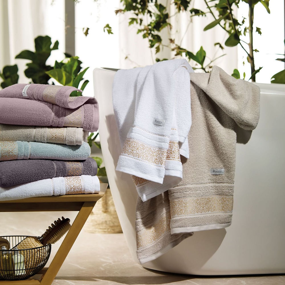 toalha de banho santista 1 peça unique donatella lilás