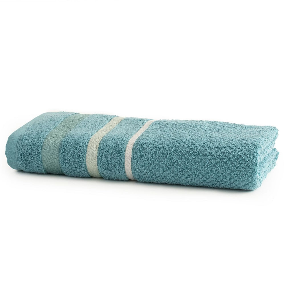 toalha de banho gigante santista 1 peça unique brook turquesa