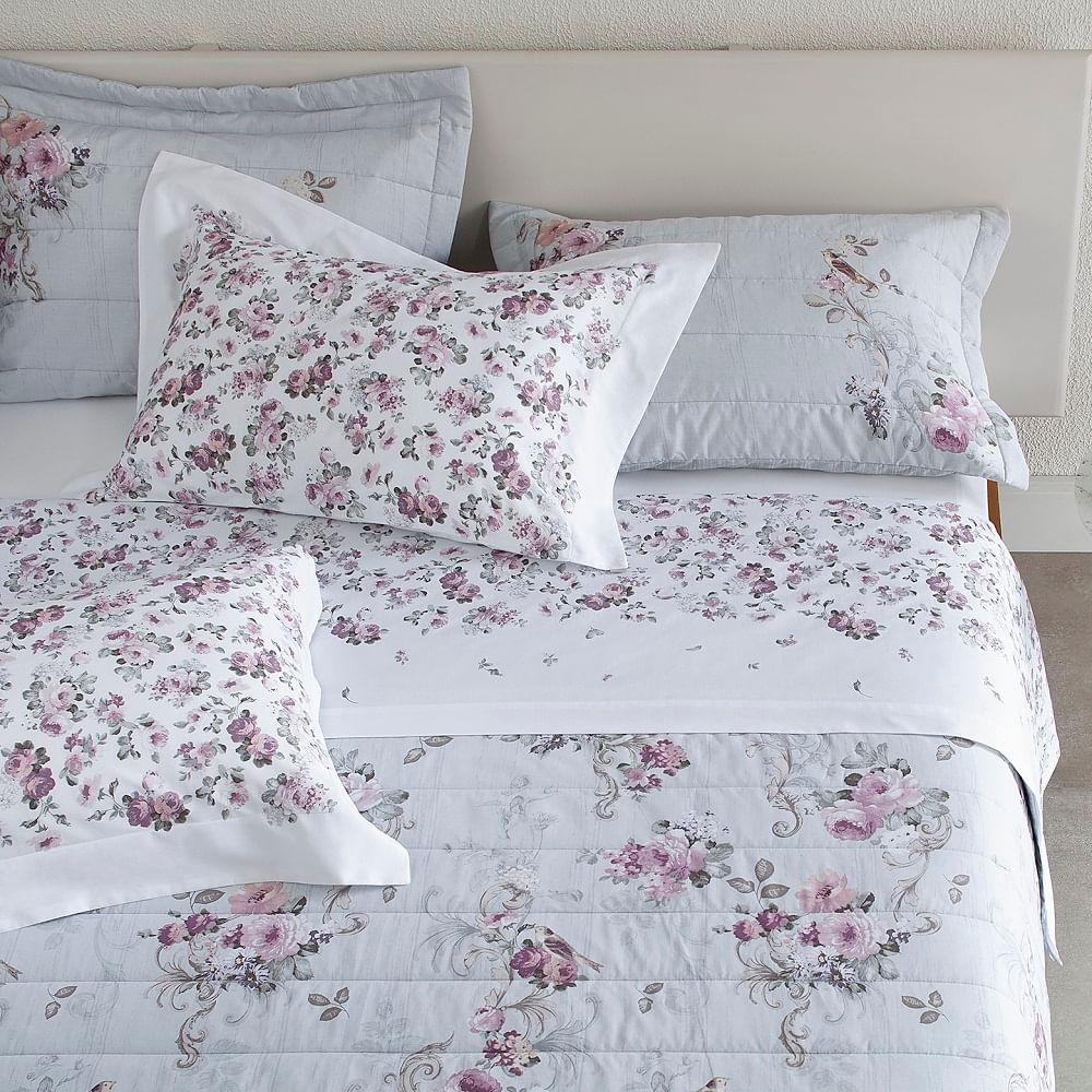jogo de cama casal buddemeyer 180 fios 100% algodão percalle philipa