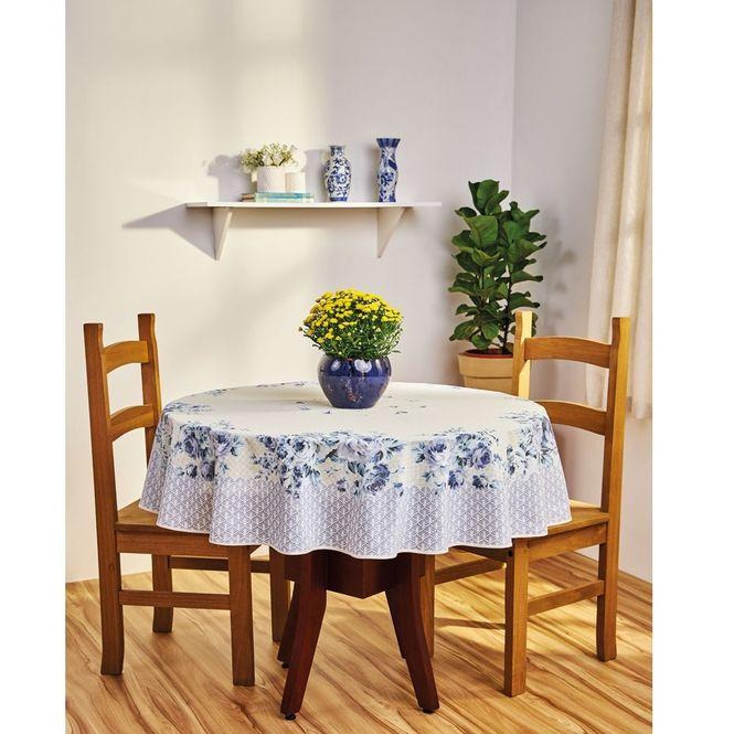 toalha de mesa lepper redonda super prática carol azul