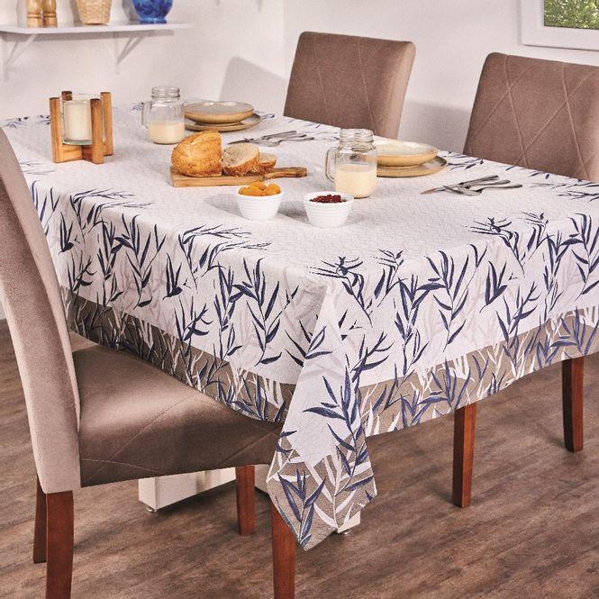 toalha de mesa lepper retangular super prática thay cinza 6 lugares
