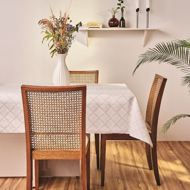 toalha mesa lepper quadrada 8 lugares gabi cinza