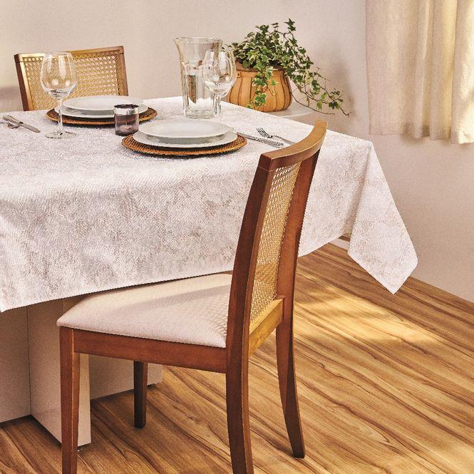 toalha mesa lepper retangular 8 lugares lili branca