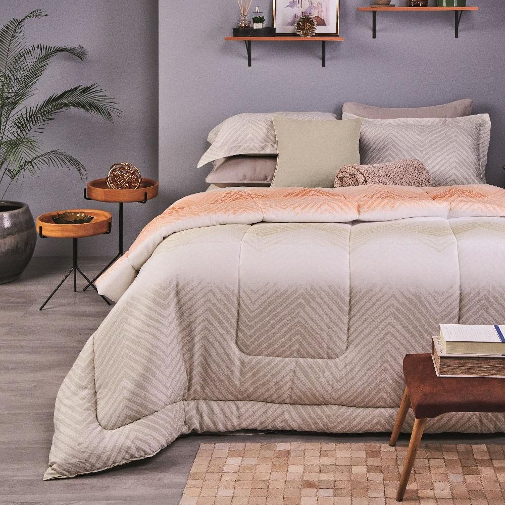 jogo de cama casal lepper 200 fios 100% algodão étnico intenso