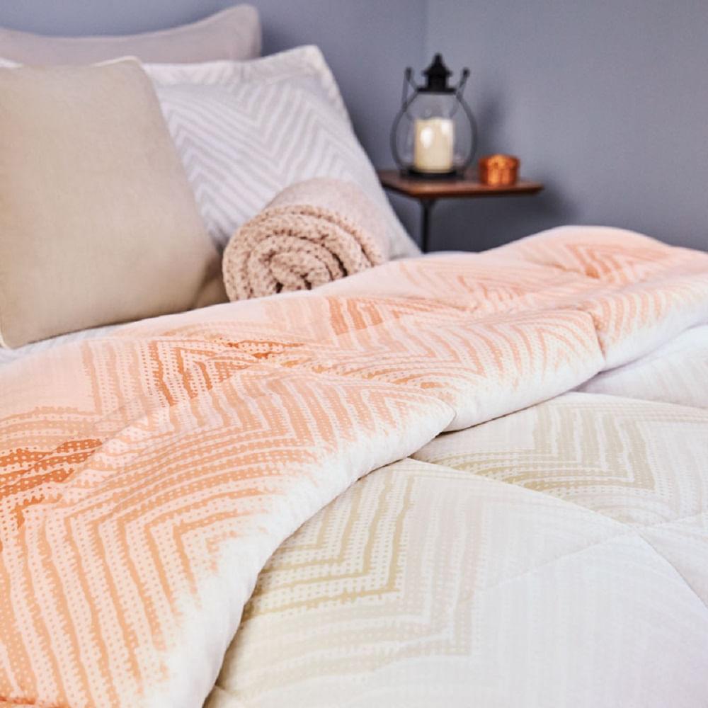 jogo de cama solteiro lepper 200 fios 100% algodão étnico intenso