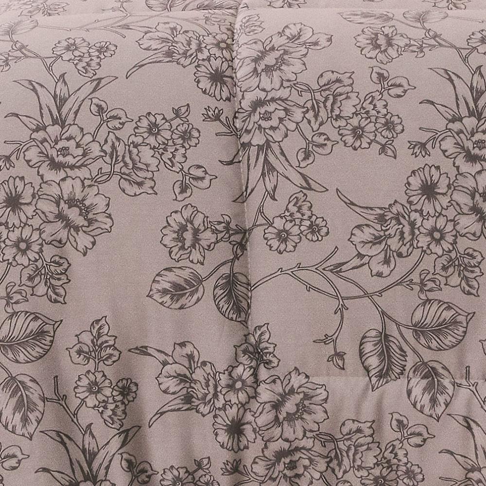 jogo de cama solteiro lepper 200 fios 100% algodão ramalhete elegante