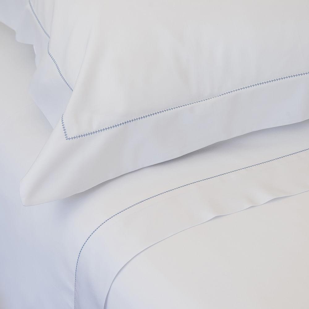 jogo de cama casal scavone 300 fios 100% algodão colorato azul