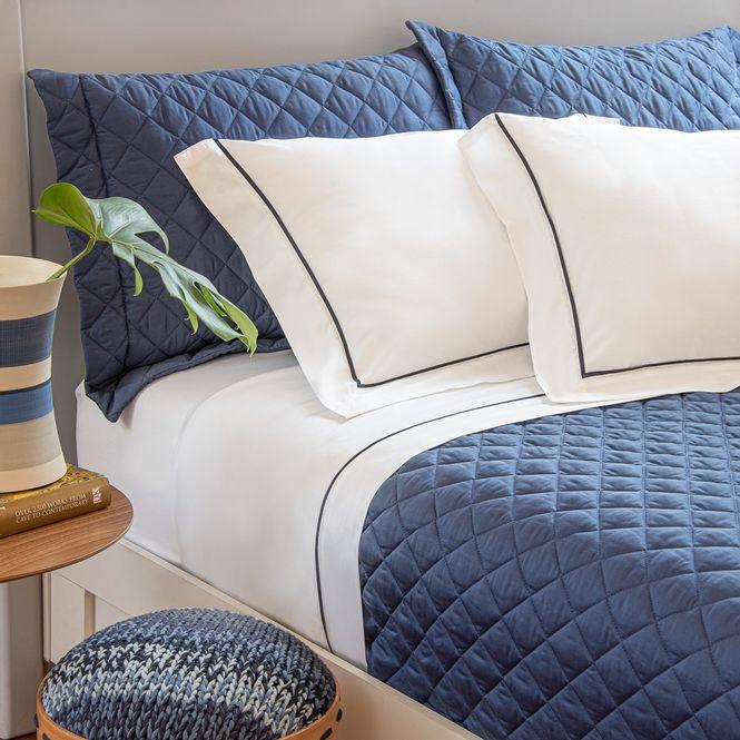 jogo cama queen scavone 300 fios normandie azul