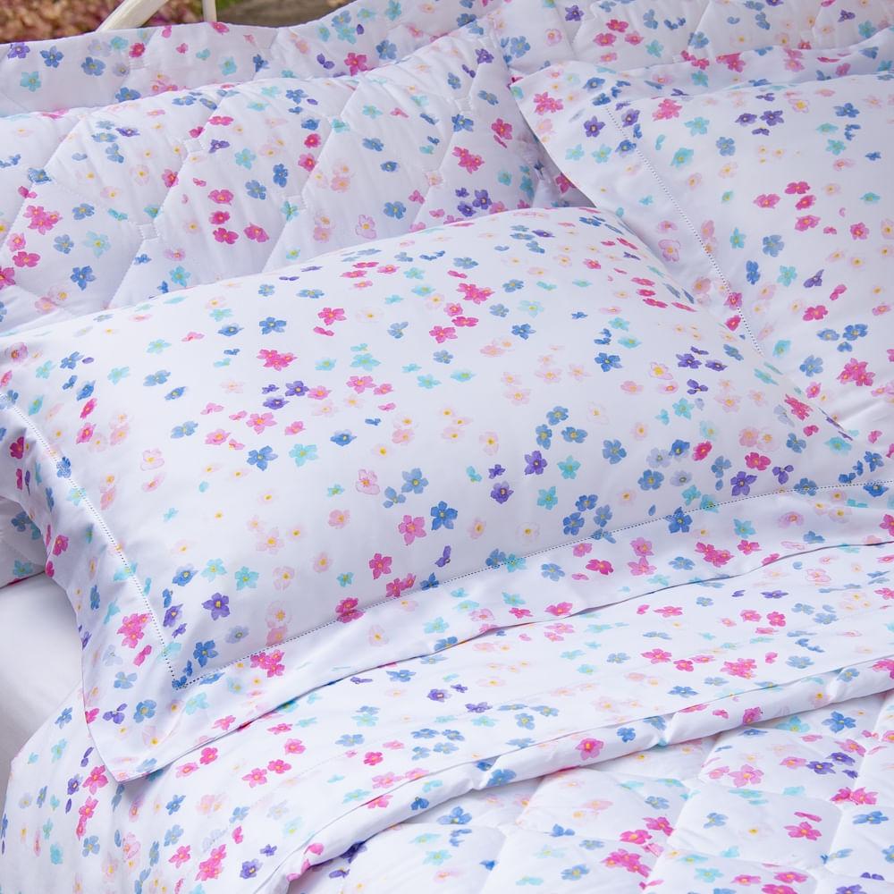 jogo de cama casal scavone 300 fios 100% algodão manuela