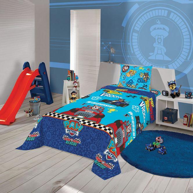 jogo de cama infantil lepper 3 peças microfibra patrulha canina 05954701