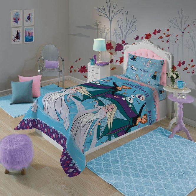 jogo cama infantil lepper 3p microfibra frozen 05953901