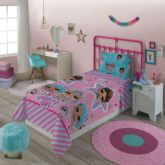 jogo cama infantil lepper 3p microfibra lol 05947101