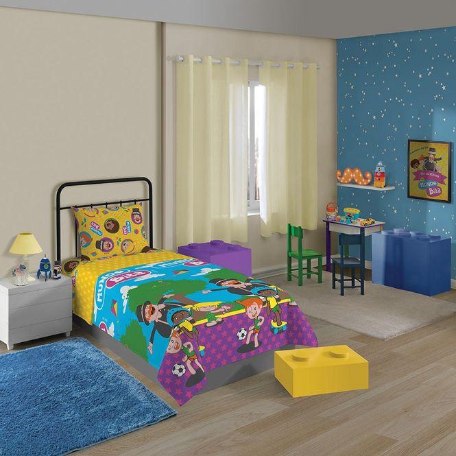 jogo cama infantil lepper 3p microfibra mundo bita