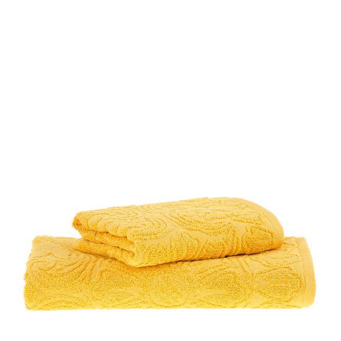 jogo toalhas banho buddemeyer 2p florentina amarelo