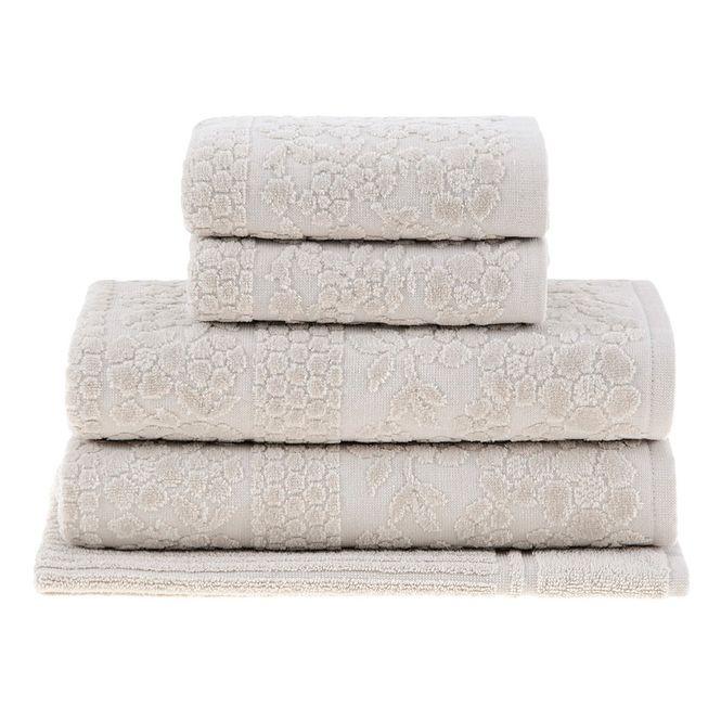 jogo toalhas banho buddemeyer 5p supreme bege