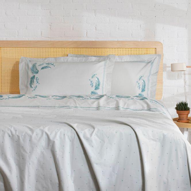 jogo cama solteiro artex 180 fios dobra feita gal