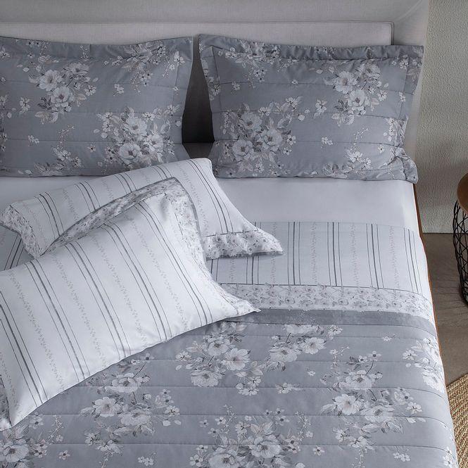 jogo de cama queen buddemeyer 180 fios 100% algodão percalle astrid