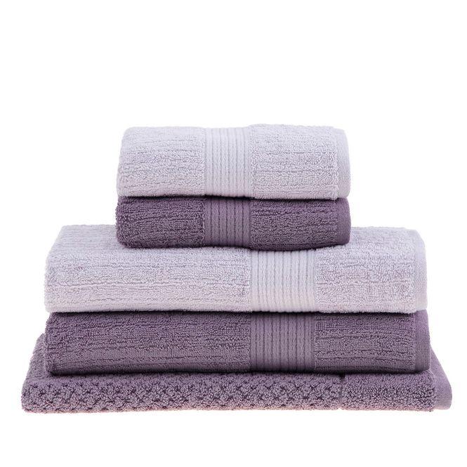 jogo toalhas banhão buddemeyer 5p fio penteado lilás 97