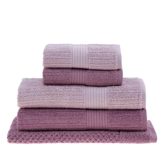 jogo toalhas banhão buddemeyer 5p fio penteado rosa 0100