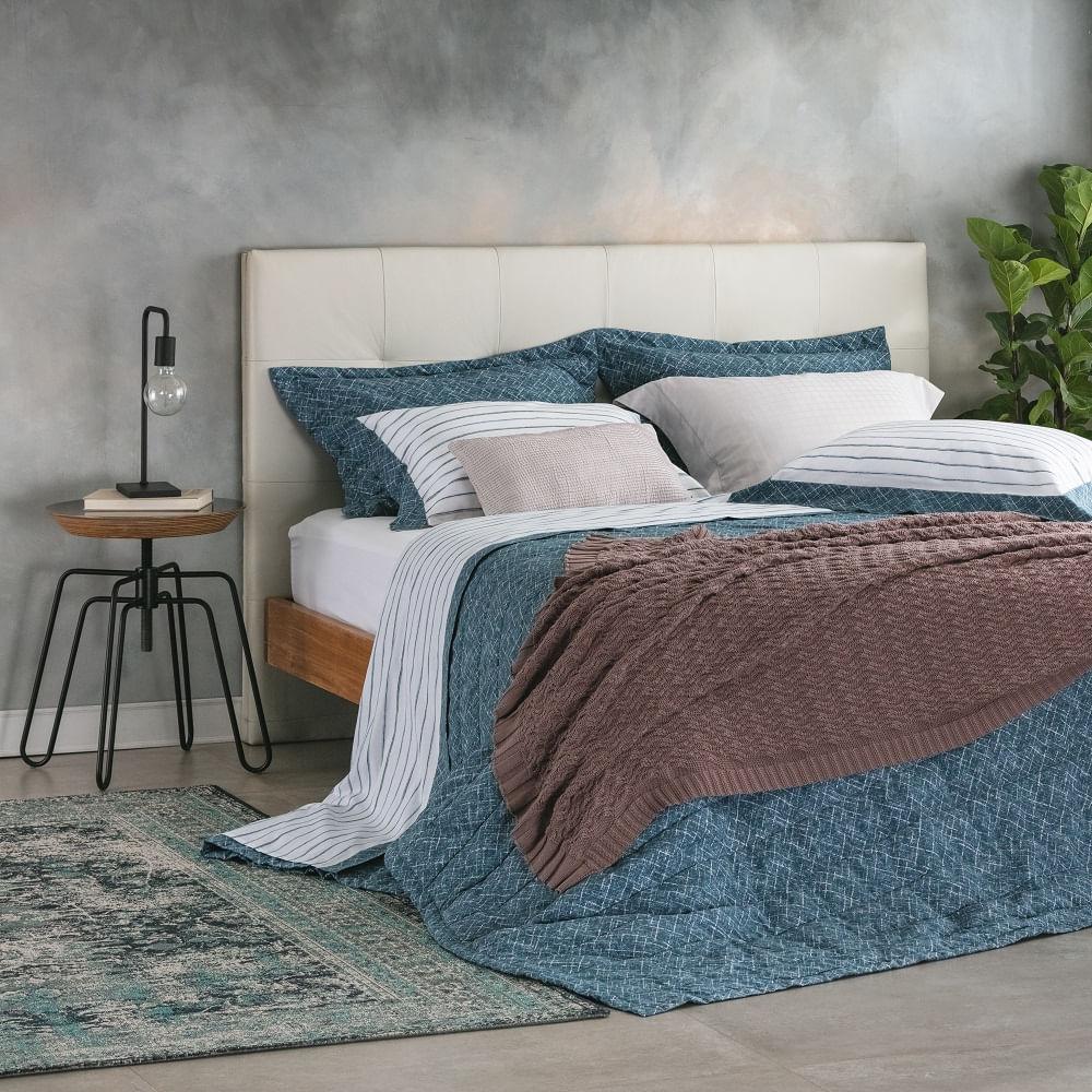 jogo de cama casal buddemeyer 180 fios 100% algodão percalle vegas