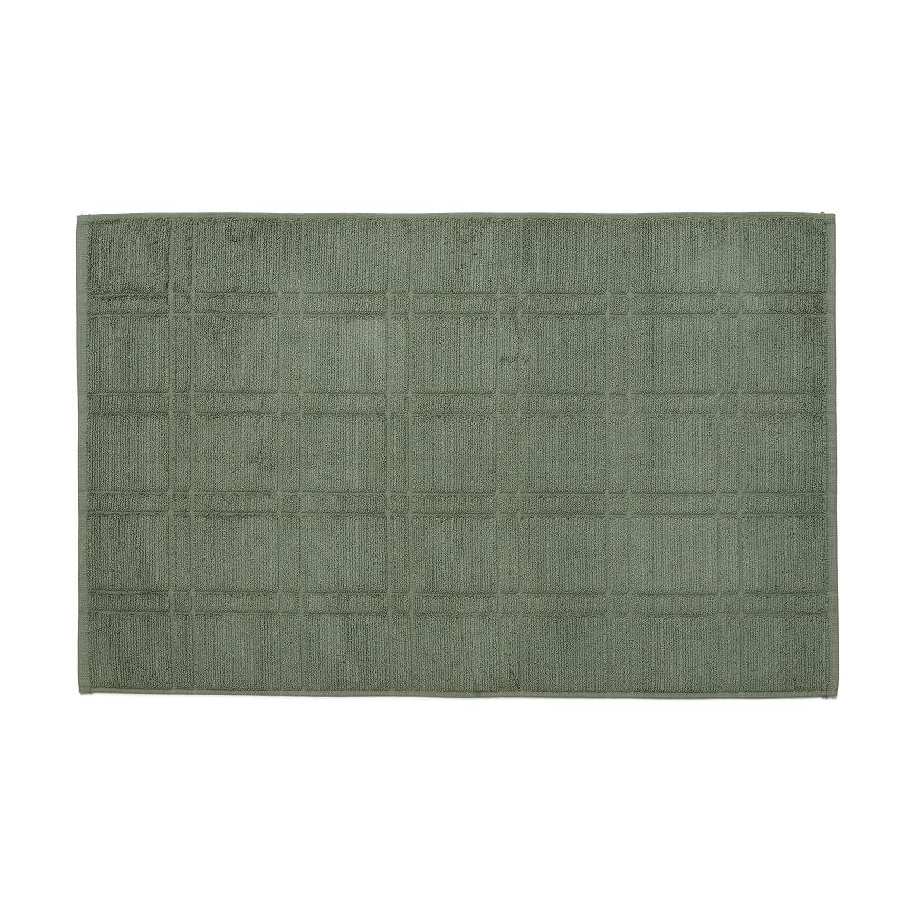 toalha de piso santista 100% algodão antiderrapante square verde