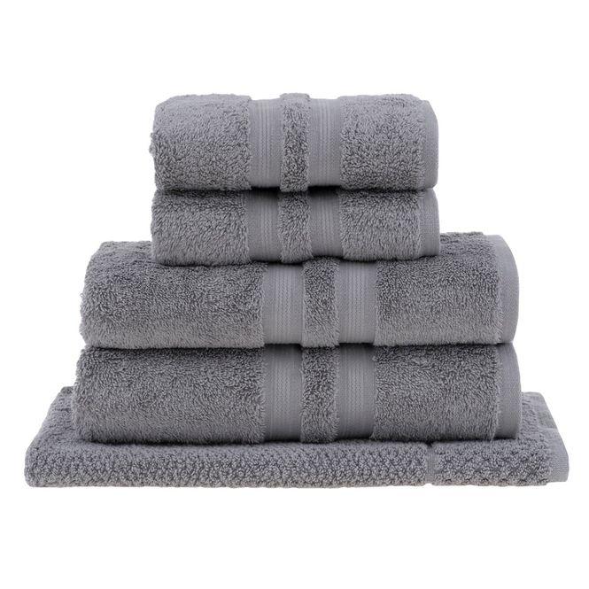 jogo toalhas banho buddemeyer 5p algodão egípcio cinza 3182