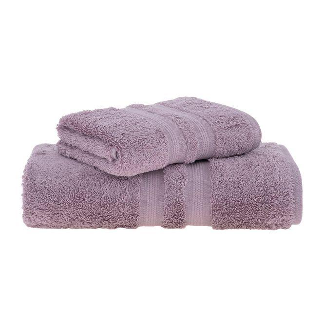 jogo toalhas banho buddemeyer 2p algodão egípcio rosa 1945