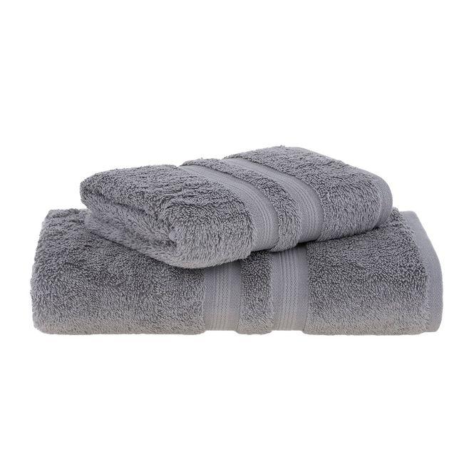jogo toalhas banho buddemeyer 2p algodão egípcio cinza 3182