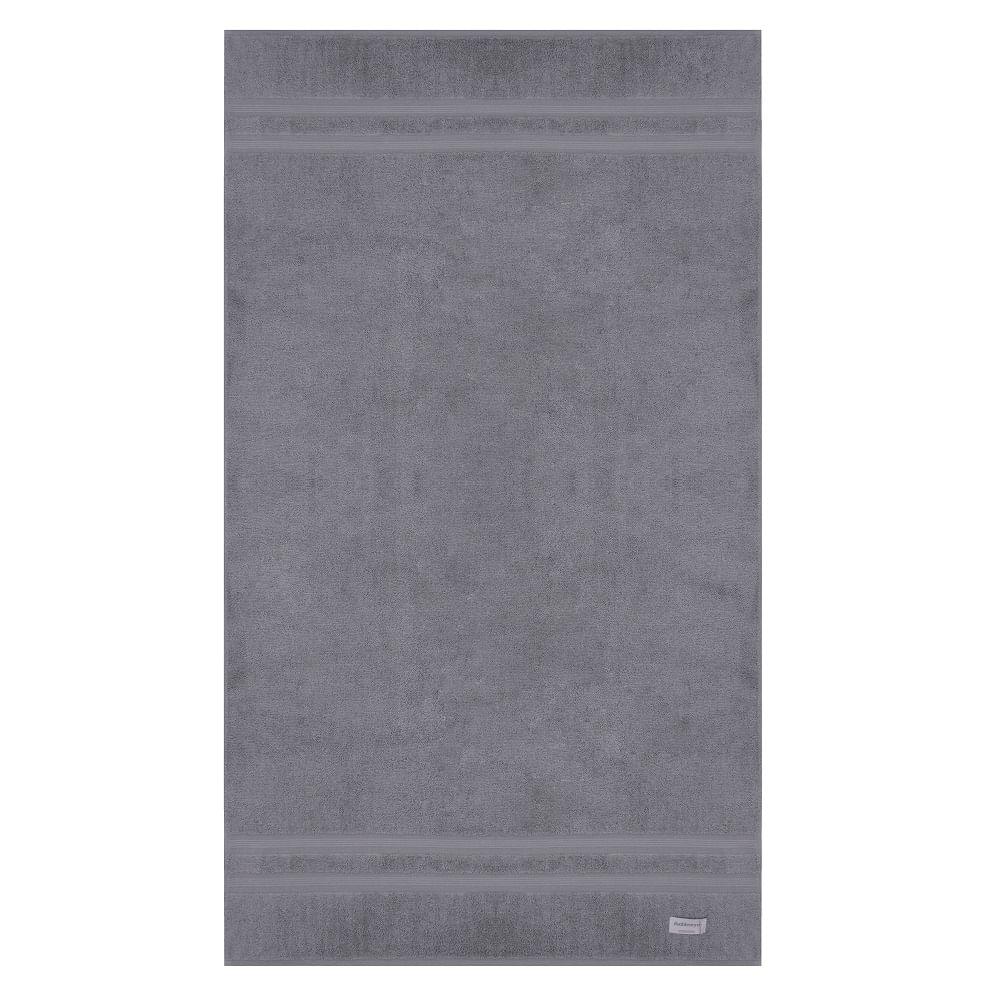 jogo de toalhas de banho buddemeyer 2 peças algodão egípcio cinza 3182