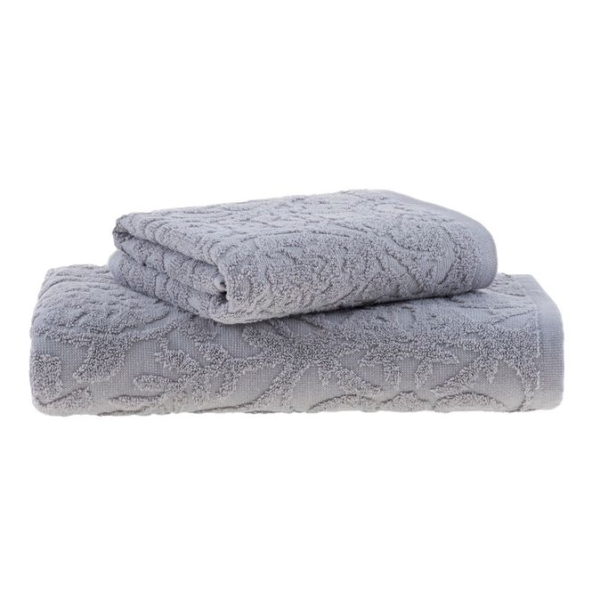 jogo toalhas banho buddemeyer 2p mauren cinza