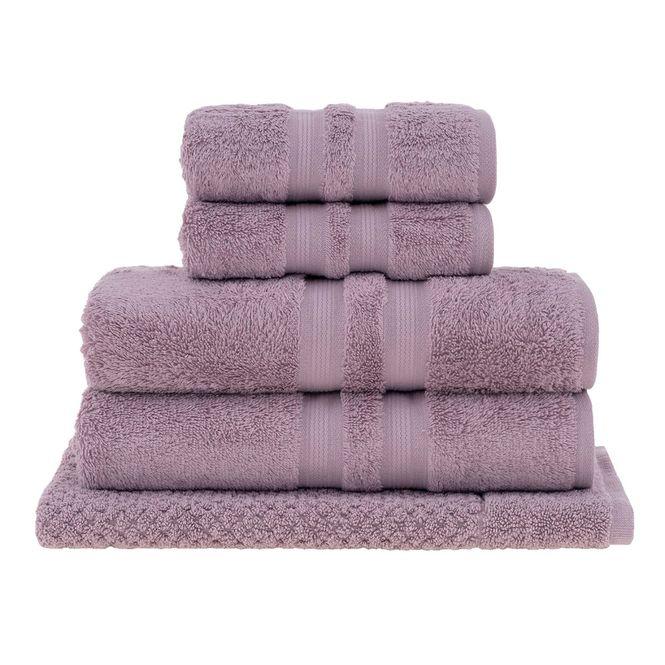 jogo toalhas banho buddemeyer 5p algodão egípcio rosa 1945