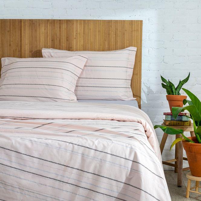 jogo cama queen artex 180 fios mineral rosa