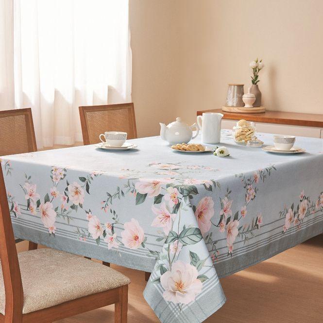 toalha mesa casa com casa quadrada 4 lugares poema florido