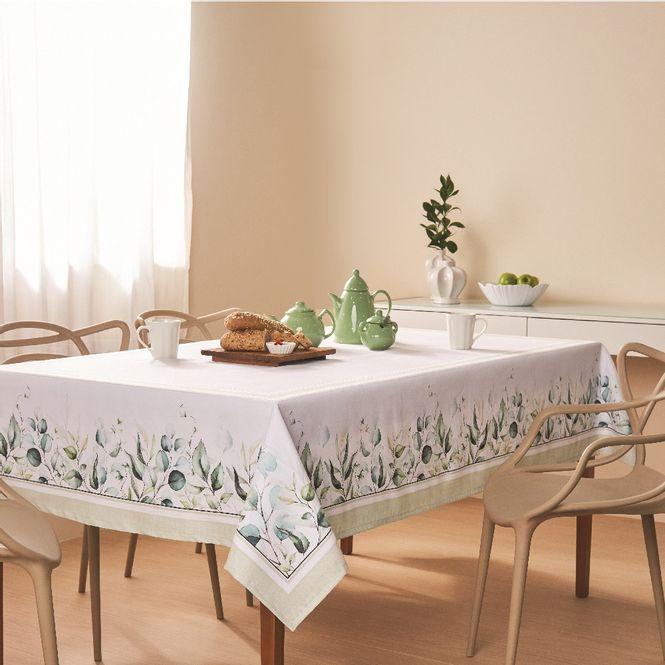 toalha mesa casa com casa quadrada 8 lugares natural sublime
