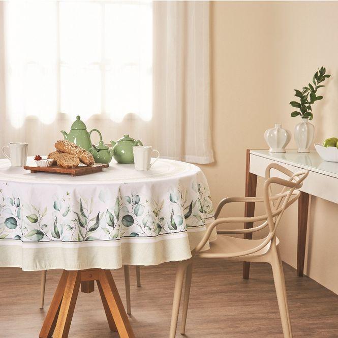 toalha mesa casa com casa redonda 4 lugares natural sublime