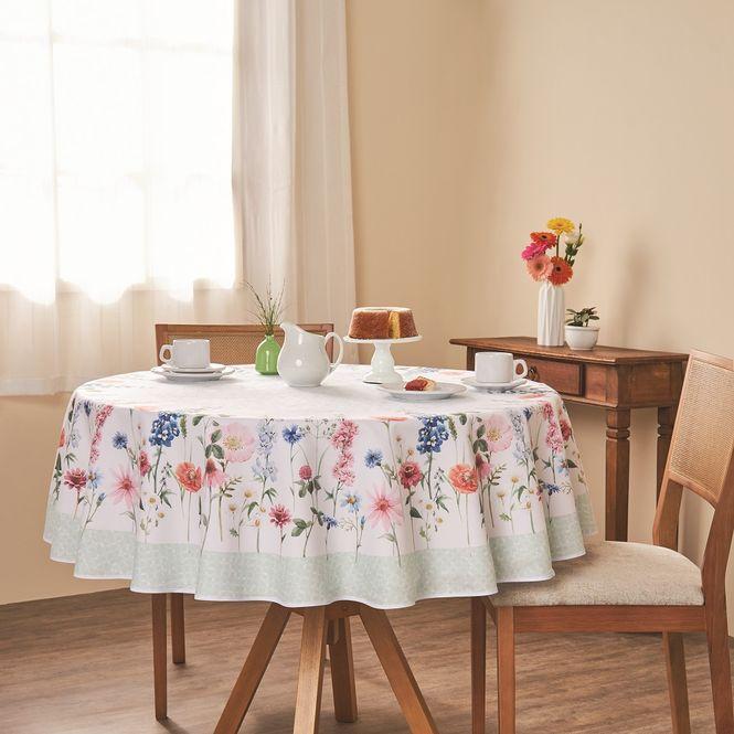 toalha mesa casa com casa redonda 4 lugares seja-como-flor