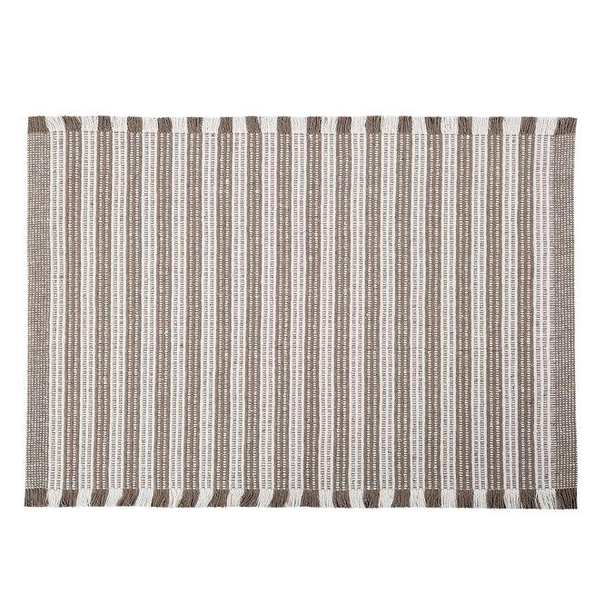 tapete casa com casa listrado minimalista 40x60cm bege