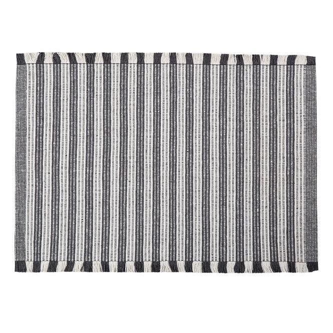 tapete casa com casa listrado minimalista 40x60cm chumbo