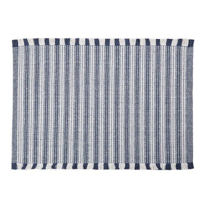 tapete casa com casa listrado minimalista 40x60cm azul
