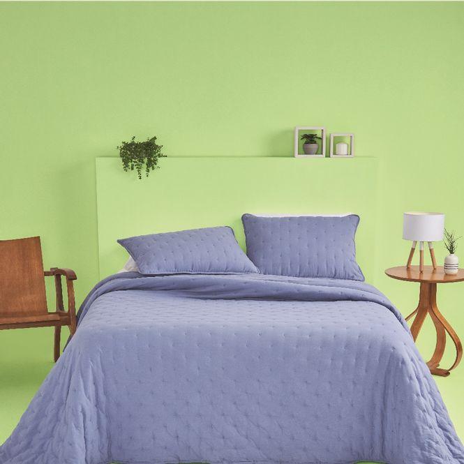kit cobre leito solteiro casa com casa poá encantado azul