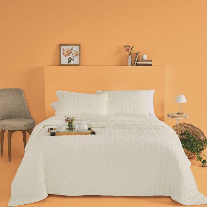 kit cobre leito casal casa com casa poá encantado branco
