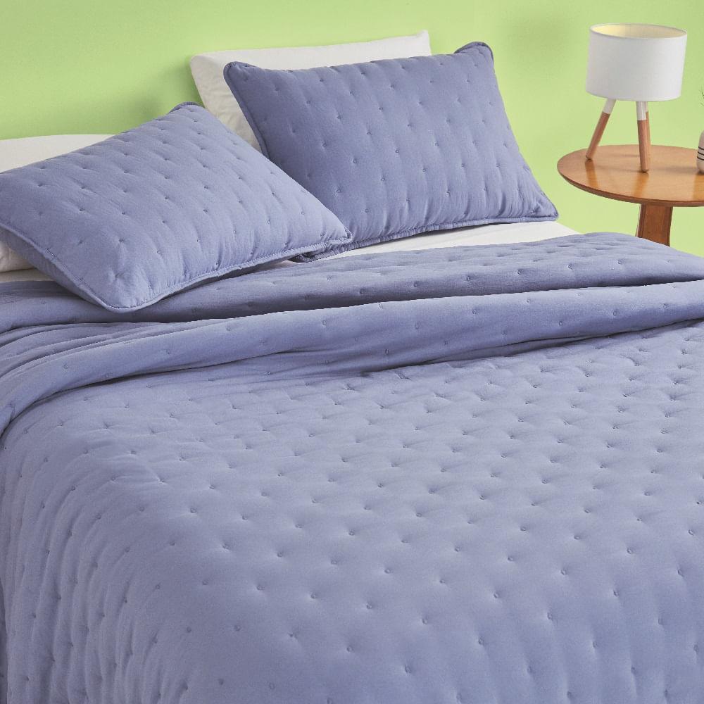 kit cobre leito queen casa com casa poá encantado azul