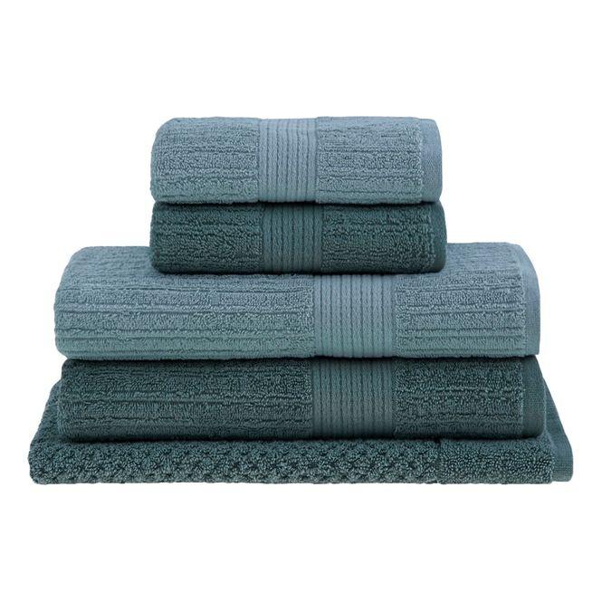jogo toalhas banhão buddemeyer 5p fio penteado verde 0106
