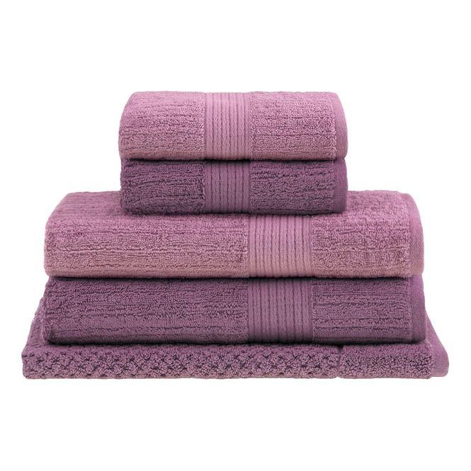 jogo toalhas banhão buddemeyer 5p fio penteado lilás 0110